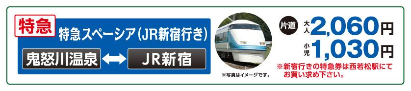特急スペーシア(JR新宿行き)